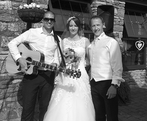 Pat with Sam & Andy at Aldwick Court