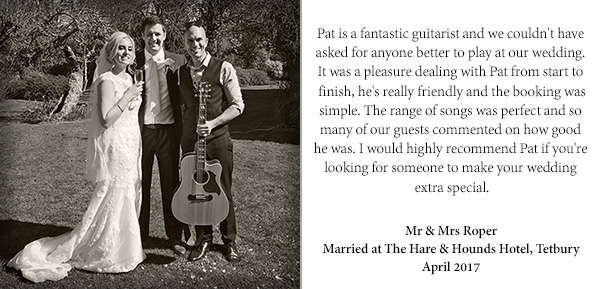 wedding singer guitarist testimonial