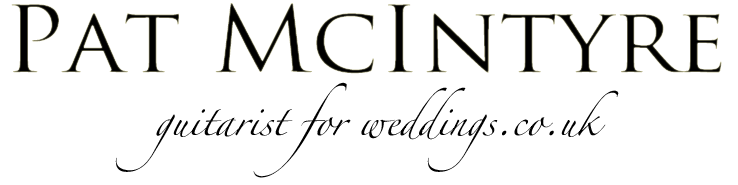 logo: Pat McIntyre - guitarist for weddings