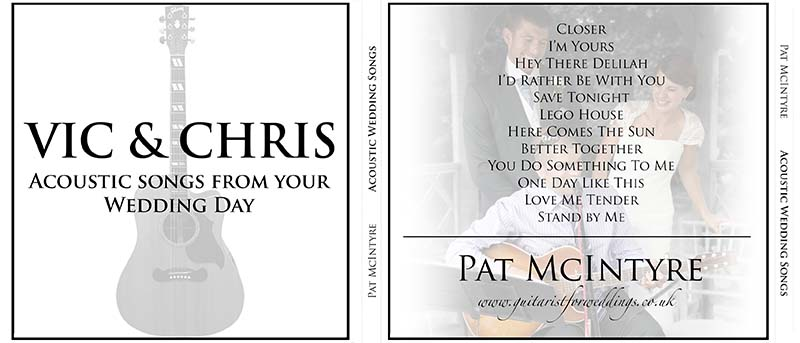 Personalised wedding CD 4
