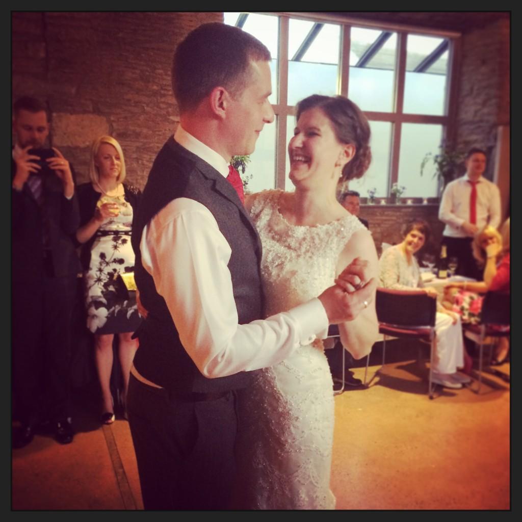 image of Laura & Matt dancing