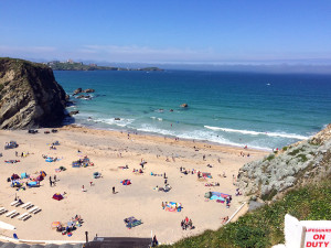 Image of Lusty Glaze beach near Newquay