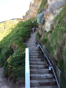 image: Steps at Lusty Glaze