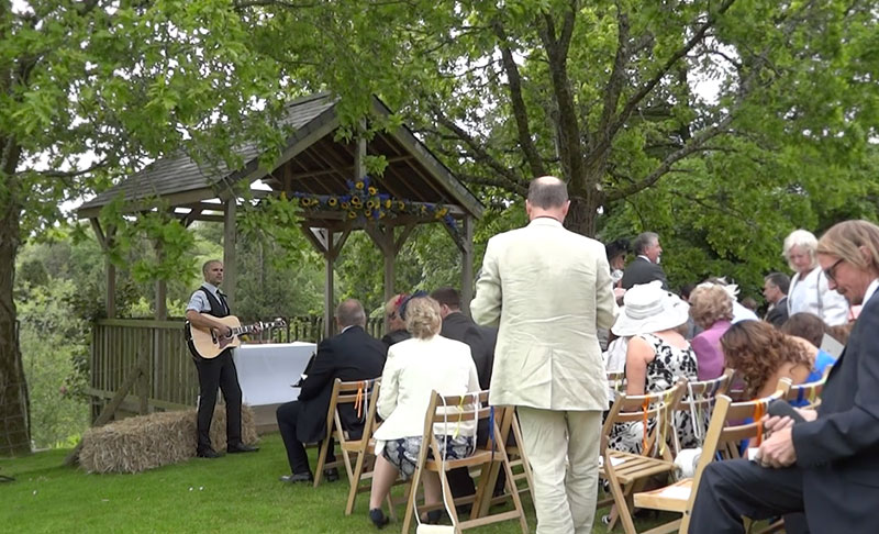image: Acoustic guitar at the wedding ceremony