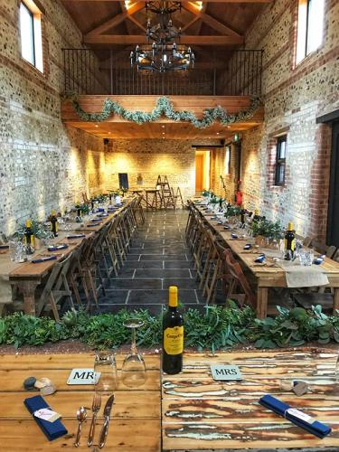 The Gathering Barn - ready for the wedding breakfast